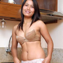 Thai amateur Kata nude in the kitchen